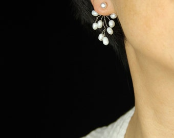 Pearl Wiring branch ear jacket Bridesmaid gifts Free US Shipping handmade Anni designs