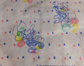 Bunny with Heart Balloons,   sewing fabric