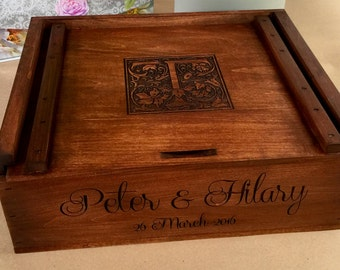 Personalized Wine Box Wedding Ceremony Anniversary Custom Time Capsule