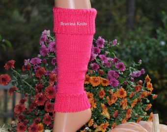 Child Leg Warmer Hot Pink 11 inches