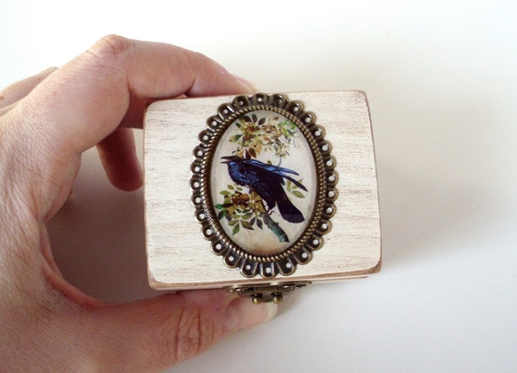 engagement ring box the in white poe inspired