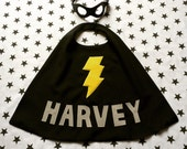 Superhero Cape and Mask Set Personlised with name