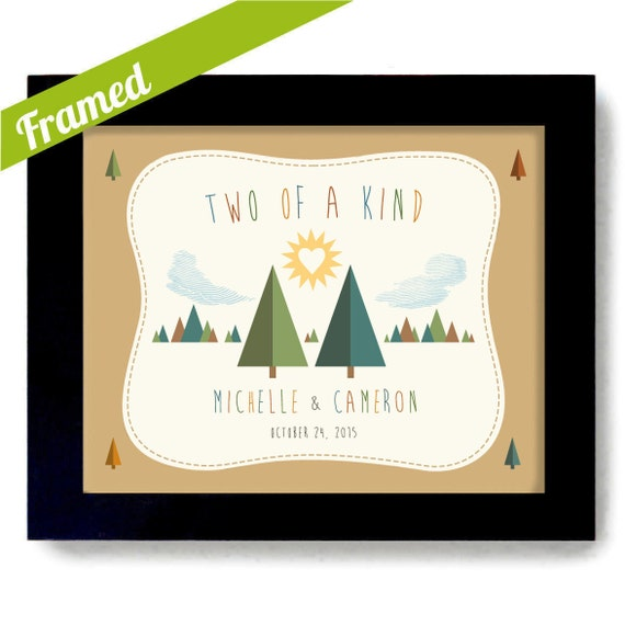 Wedding Gifts For Outdoorsy Couples : Outdoorsy Couple Two of a Kind Anniversary Gift Together Wedding Gift ...