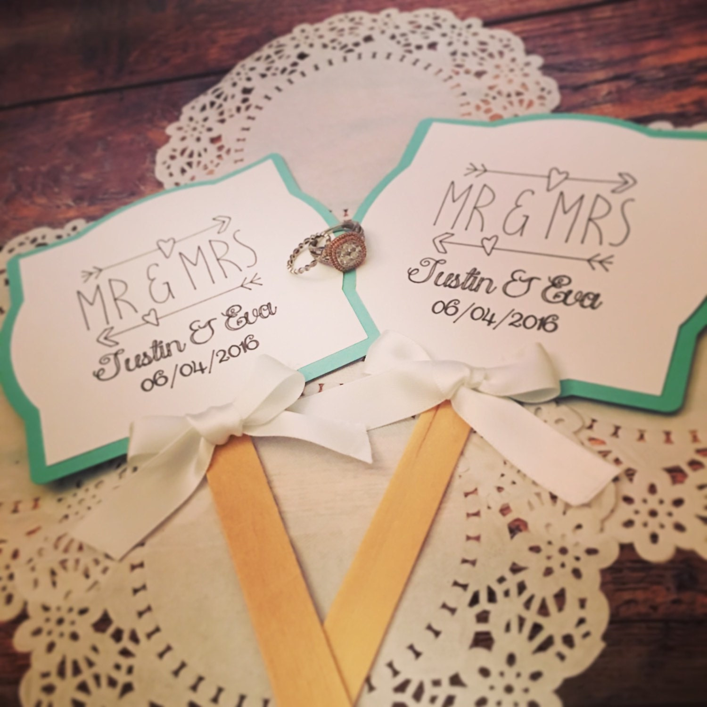 Wedding Bridal Shower Baby Shower Paper Fan Favors