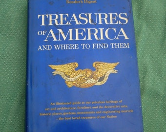 Treasures of America and Where To Find Them Vintage Book Reader's Digest Illustrations Photos Collecting