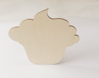 wooden muffin cut outs / wood blanks / set of 6 /  plywood muffins / wooden shape / gift for crafter / for muffin lover / kitchen decor