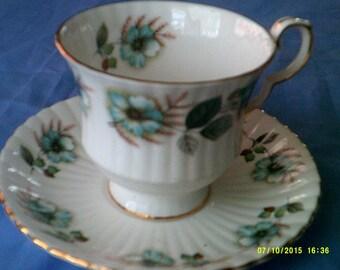 Vintage Royal Windsor Tea Cup and Saucer