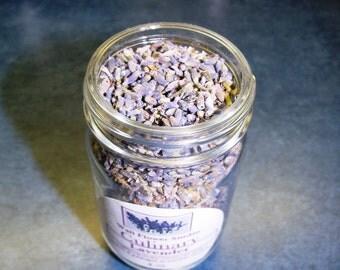 Culinary Lavender flowers - 4 oz jar of organic herbal goodness - Lavandula angustifolia