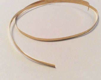 "Brass Bezel Wire 1/8"" Stone Setting, Jewelrymaking"