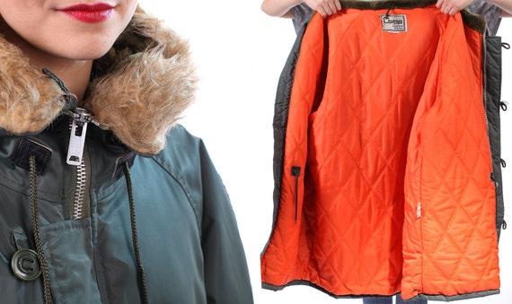 Mens Parka Jacket 70s Snorkel Parka Hooded Vintage By