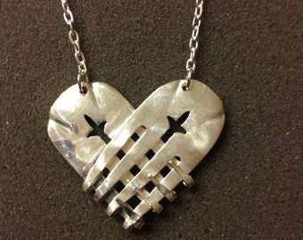 Heart Silver Fork Necklace