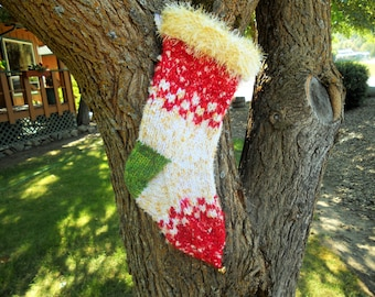 Golden Mountain Womans Hand Knit Personalized Christmas Stockings