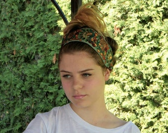 Fabric headwrap,Bohemian Headband,Turban,Boho Headband,Women Head Wrap,Wide Headband,Hair Accessorie,Women Headband
