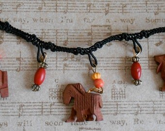 Wood Animal Beaded Trim
