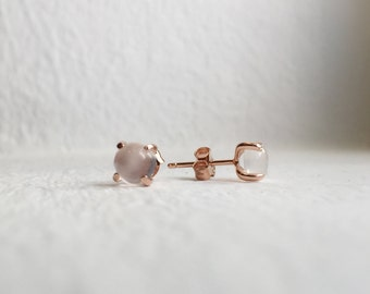 NEW Simple Everyday Earstuds - Moonstone Earrings, Bridesmaids Gift, Gifts for Her
