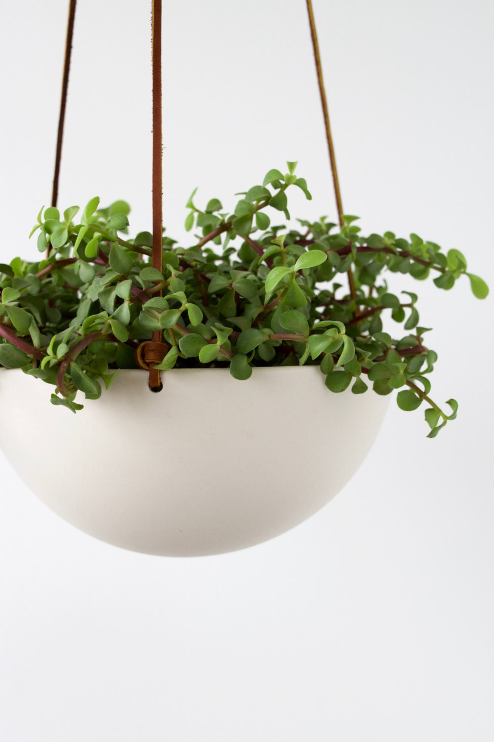 Hanging Ceramic Porcelain Planter Medium Size Geometric