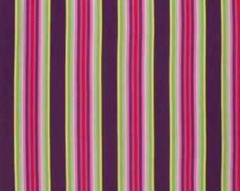 Tula Pink - Chipper - Tick Tock Stripe - Raspberry