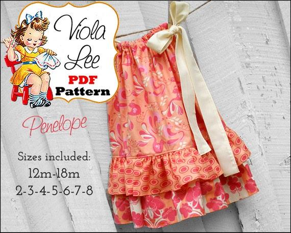 Pillowcase Dress Pattern. Girls Dresses. Toddler Dress Sewing Pattern. Girl's Dress Pattern. pdf Sewing Pattern,  Sewing Pattern. Penelope