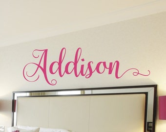 Girls Name Wall Decal Girls Name Decal Girls Bedroom Name Decal Personalized Monogram Wall Decor Girls Room Baby Girl Nursery Decoration