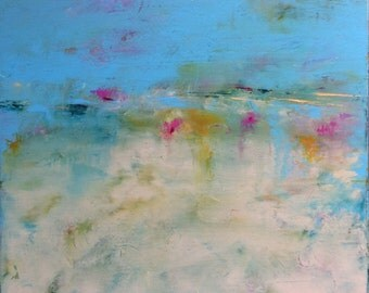 Abstract Landscape 'Moonage Daydream' - acrylic painting on canvas - size 40cm x 40cm