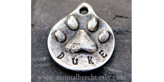 Dog Tag - Pet Tag - Dog ID Tag - Pet Accessories - Custom - Hand Stamped - Personalized