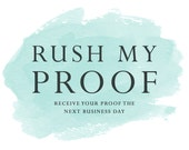 Rush My Proof (Save the Date or Invitation) by Vintage Sweet