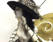 Assemblage art doll altered vintage doll Whispers in the Wind