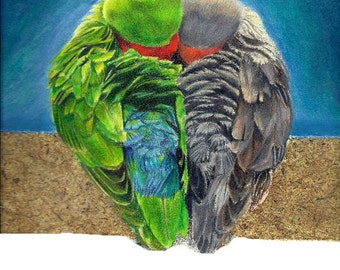 Lovebirds - PRINT