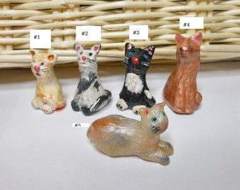 Cats-Polymer Clay Cats-OOAK-Choice of 5 Cats