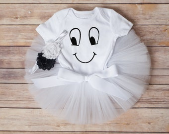 Ghost tutu costume, ghost tutu, ghost costume baby girl halloween outfit girls ghost tutu costume halloween ghost outfit toddler halloween