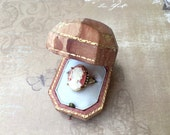 Charming Vintage Costume Jewelry Cameo Ring
