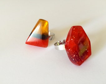 Resin Gemstone Rings