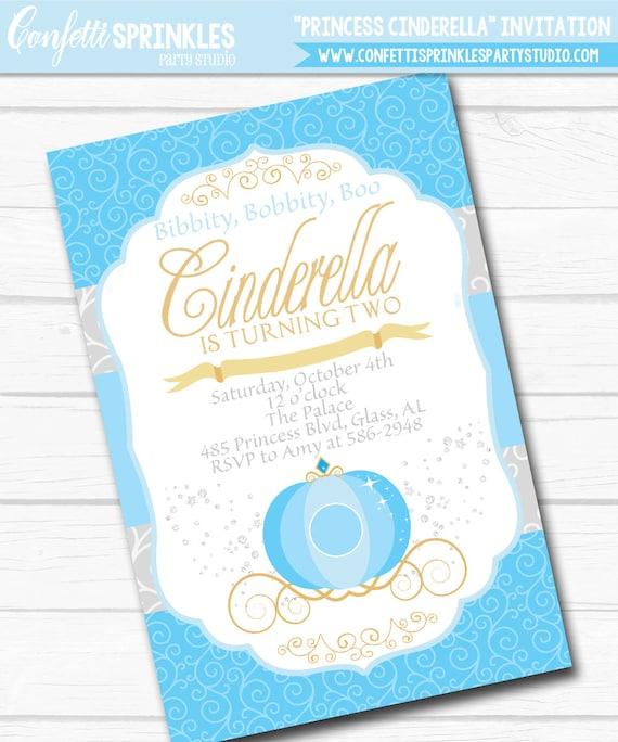 Diy personalized princess cinderella birthday party digital il570xn filmwisefo
