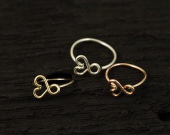 Infinity Heart nose hoop/tragus/hoop earring