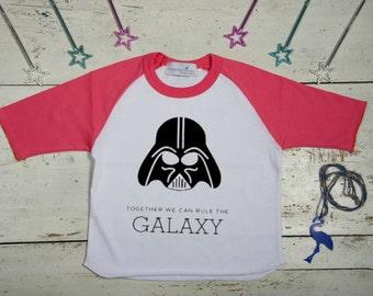 Star Wars girls shirt, Star Wars Birthday Shirt, Personalized Darth Vader T shirt, 18 months - 8 years