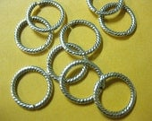 Silver Connector Link Bead Antique Silver unsoldered, 13mm 50pcs DIY Jewelry Making Supplies Findings