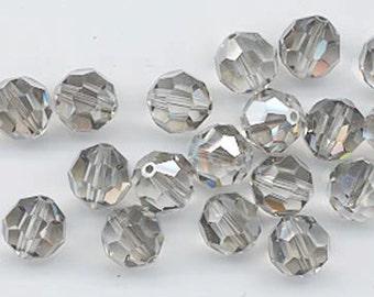 "12 Swarovski crystals with ""satin"" effect - art. 5000 - shadow crystal satin - 8 mm"