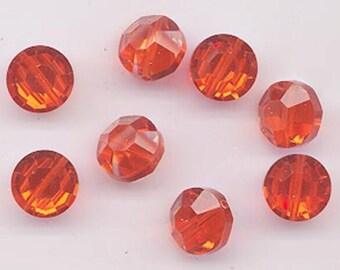 Six vintage Swarovski crystal beads - Art. 5100 - 12 mm - hyacinth AB