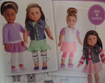 Simplicity 0173--18 Inch Doll Clothing Pattern --New Uncut