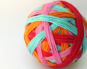"Self Striping Sock Yarn, Superwash Merino and Nylon Fingering Weight, in ""Inky, Pinky, Blinky & Sue"""