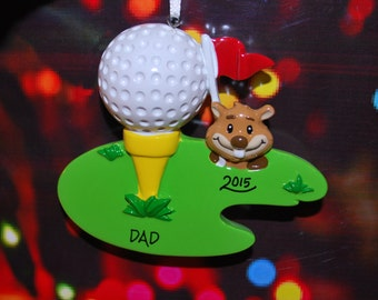Personalized Golf Christmas Ornament