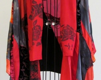 Large Red and Black Kimono