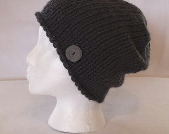 Slouchy Knit Hat ~ Chunky Knit Hat ~ Slouchy Beanie