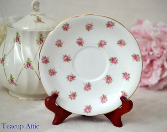 Aynsley Rosedale Replacement Saucer,  English Bone China Saucer, Replacement Saucer Only, ca. 1939