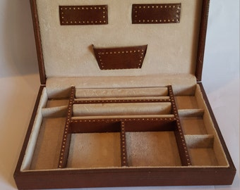 Vintage Men's Jewelry Box Swank Dresser Valet  Mid Century Home Decor