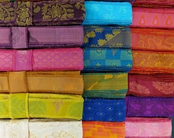 30 Yards of Silk Sari Borders, C79