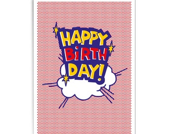 "Pop art birthday card ""Happy birthday!"""