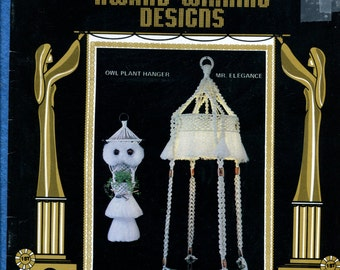 1980 Macrame' Booklet Lamp Table Wall Hangings Wreaths Patterns