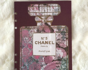 Purple Floral Chanel Bottle Dashboard | Filofax Stationary