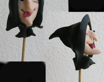 Halloween cupcake topper. Halloween table decor. Witch. Halloween party.